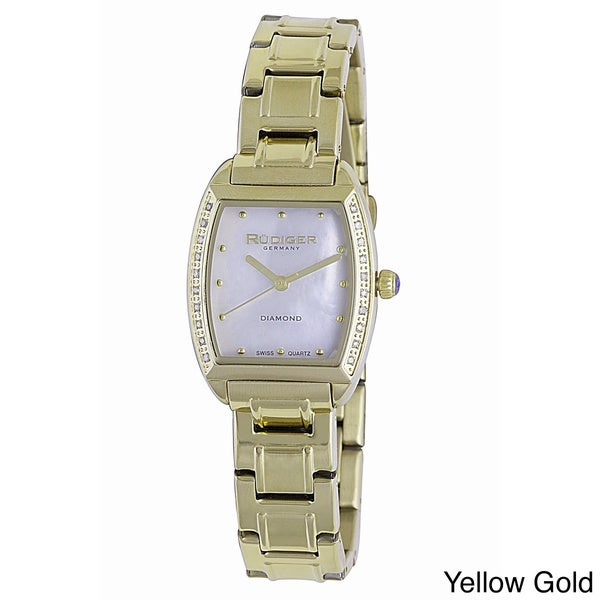 Rudiger Women's Bonn Gold IP Stainless Steel Watch