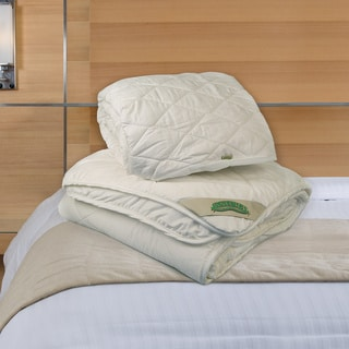Natura World Wash N Snuggle Comforter and Mattress Pad Combo Set