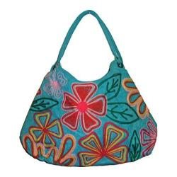 Women's Bamboo54 Hobo Embroidered Bag Blue/Clovers