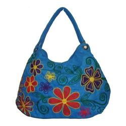 Women's Bamboo54 Hobo Embroidered Bag Blue/Red Flowers