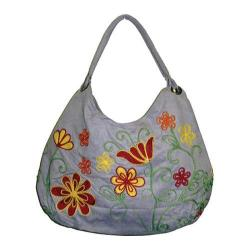 Women's Bamboo54 Hobo Embroidered Bag Purple/Red Flowers