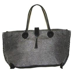 Women's Bamboo54 Metallic Tote Bag Black