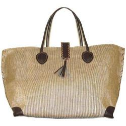 Women's Bamboo54 from Rayon Metallic Tote Bag Gold