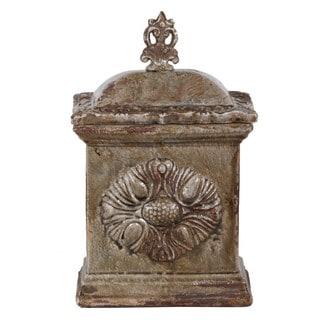 Large Brown Ceramic Box