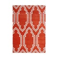 Alliyah Handmade Red New Zealand Blended Wool Rug (5' x 8')