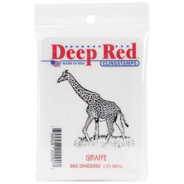 Deep Red Giraffe Cling Stamp