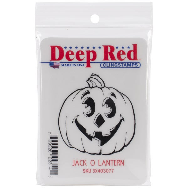 Deep Red Cling Stamp 2 X2 - Jack-O'-Lantern