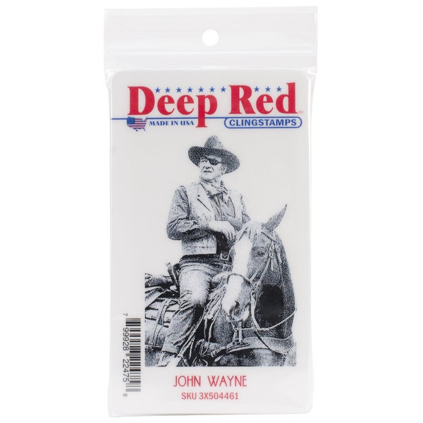 Deep Red Cling Stamp 2.1 X3.25 - John Wayne