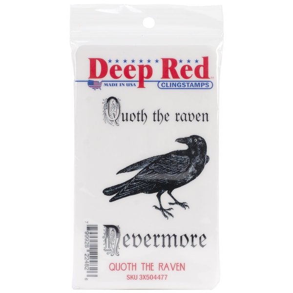 Deep Red Cling Stamp 3 X2 - Quoth The Raven