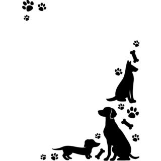 Embossing Folder 4.25 X5.75 - Dogs & Paws