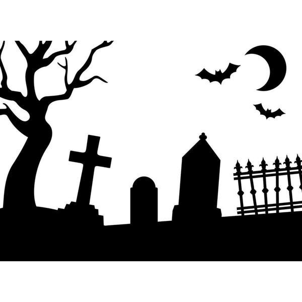 Embossing Folder 4.25 X5.75 - Graveyard