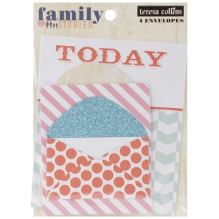 Family Stories Envelopes 4/Pkg - 3.25 X2 To 5.5 X4.5 With Flaps Shut