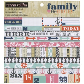 Family Stories Paper Pad 6 X6 24/Sheets - 12 Double-Sided Designs/2 Each