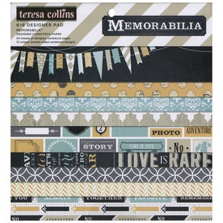 Memorabilia Paper Pad 6 X6 24/Sheets - 12 Double-Sided Designs/2 Each
