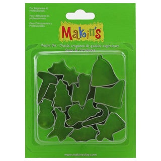 Makin's Clay Cutters 12/Pkg - Christmas
