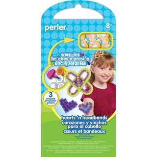 Perler Snap-Ins Fun Fusion Fuse Bead Activity Kit - Hearts 'n Headbands