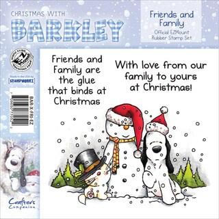 Barkley EZMount Christmas Cling Stamp Set 4.75 X4.75 - Friends & Family