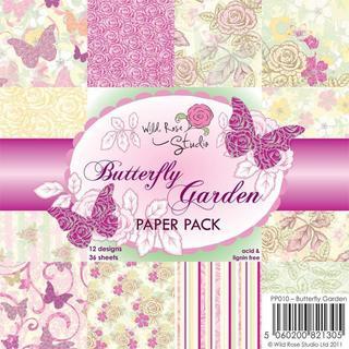 Wild Rose Studio Ltd. 6 X6 Paper Pack 36/Sheets - Butterfly Garden