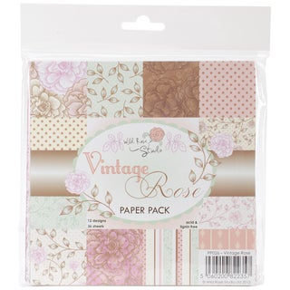 Wild Rose Studio Ltd. Vintage Rose Paper Pack (6x6)