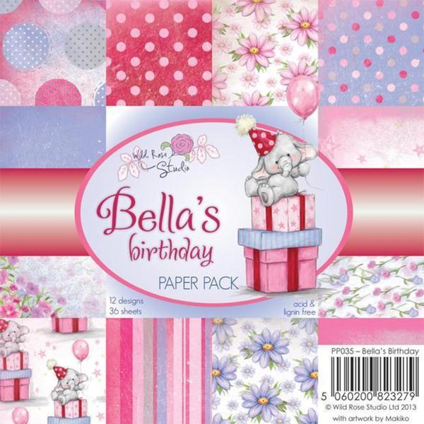 Wild Rose Studio Ltd. 6 X6 Paper Pack 36/Sheets - Bella's Birthday
