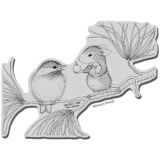 Stampendous House Mouse Cling Stamp - Berrying Gifts