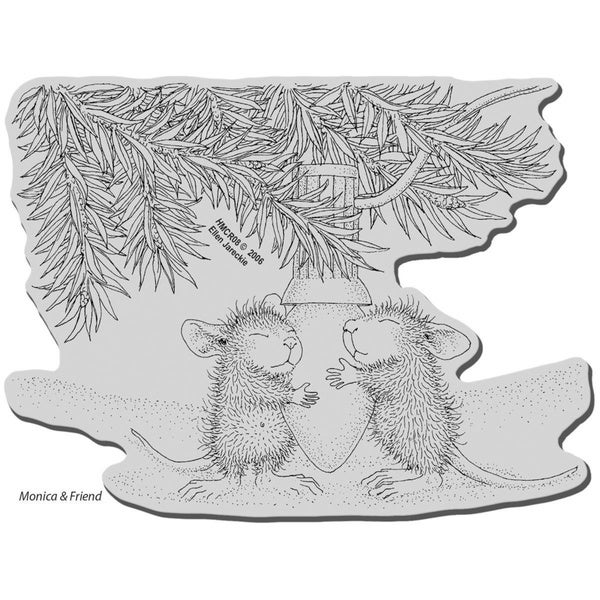 Stampendous House Mouse Cling Stamp - Paws To Warm