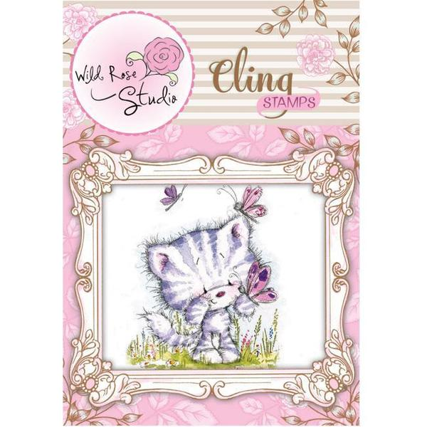 Wild Rose Studio Ltd. Cling Stamp - Elsie & Butterflies