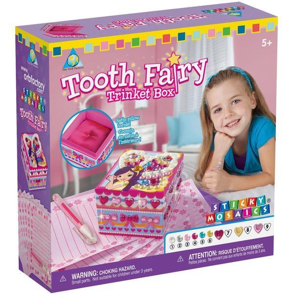 Sticky Mosaics Kit - Tooth Fairy Trinket Box