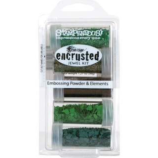Stampendous Encrusted Green Jewel Kit