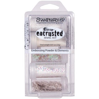 Stampendous White Encrusted Jewel Kit