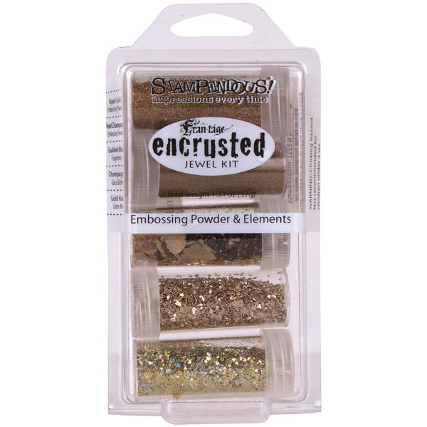 Stampendous Encrusted Jewel Kit - Gold