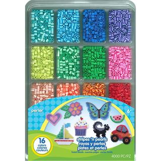 Perler Fused Bead Tray 4000/Pkg - Stripes 'n Pearls