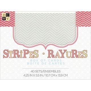 Box Of Cards & Envelopes A2 Size - Stripes 40/Pkg