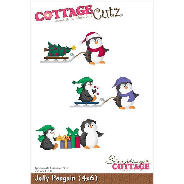 CottageCutz Die 4 X6 - Jolly Penguin