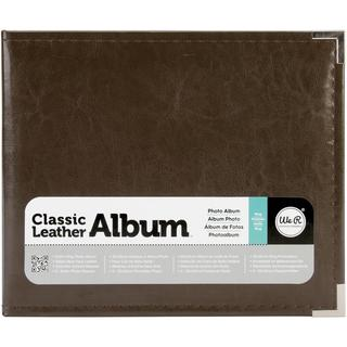 We R Classic Leather Ring Photo Album 8 X8 - Dark Chocolate