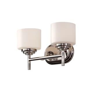 2-light Polished Nickel Vanity Fixture