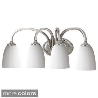 Perry 4-light Vanity Fixture with White Opal Etched Glass