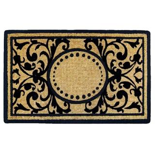 Heavy-duty Heritage Natural/ Black Coir 18x30-inch Doormat