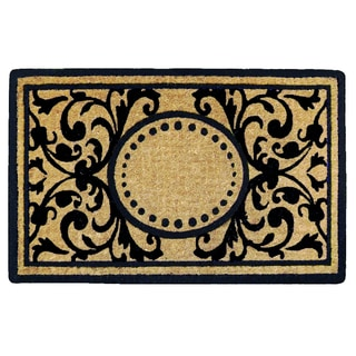 Heavy-duty Heritage Natural/ Black Coir 18x30-inch Doormat