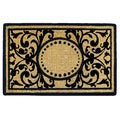 Heavy-duty Heritage Natural/ Black Coir Doormat