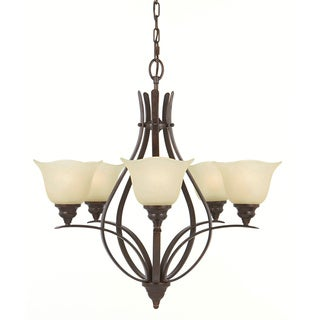 Morningside 5-light Grecian Bronze Chandelier