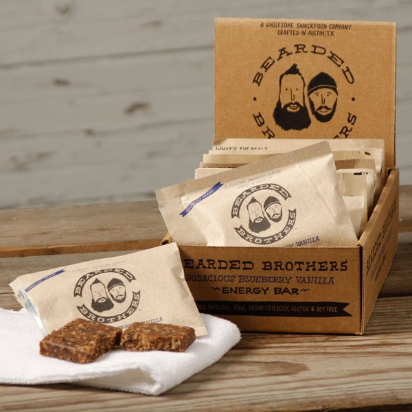 Bearded Brother Bodacious Blueberry Vanilla Energy Bars (Pack of 12)
