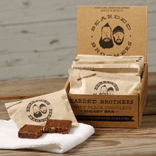 Bearded Brothers Mighty Maca Chocolate Energy Bars (Pack of 12)