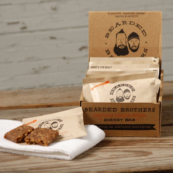 Bearded Brothers Ginger Peach Energy Bars (Pack of 12)