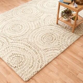 Hand-tufted Dawson Ivory Wool Rug (3'6 x 5'6)
