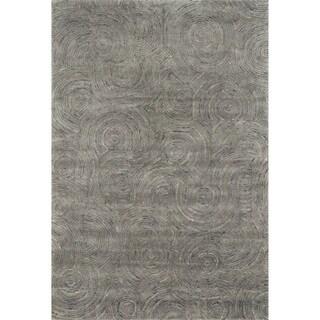 Hand-tufted Dawson Charcoal Wool Rug (7'10 x 11'0)