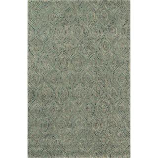 Hand-tufted Dawson Green Wool Rug (7'10 x 11'0)