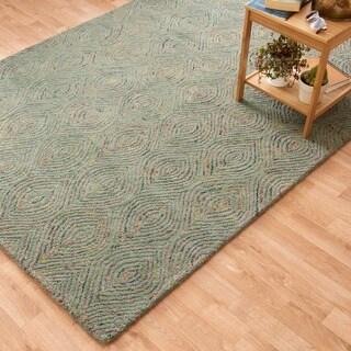 Hand-tufted Dawson Green Wool Rug (5'0 x 7'6)