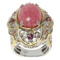 Michael Valitutti Two-tone Rhodochroiste, Rhodolite and Pink Sapphire Ring