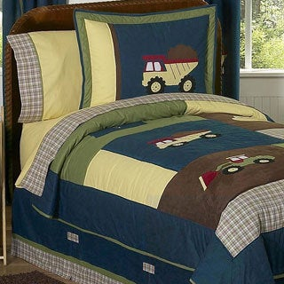 Sweet Jojo Designs Boy's 'Construction Zone' 4-piece Twin Comforter Set